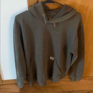 Carthartt green hoodie sweatshirt size small